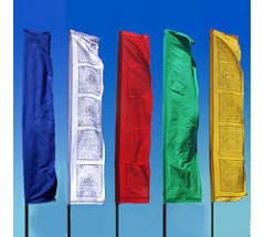Tibetan Prayer Flags, Vertical - MEDIUM