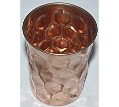 Copper (TAMA) GlASS- Hand work in Nepal, Pure Copper Water Glass to neutralize any type of water before drink, - Small Size