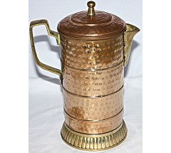 Copper (TAMA) JUG - Hand work in Nepal, Pure Copper Water Vase to neutralize any type of water before drink - Medium Size