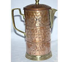Copper (TAMA) VASE- Hand work in Nepal, Pure Copper Water Vase to neutralize any type of water before drink - Small Size
