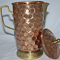Copper jug to purify water