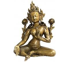 GREEN TARA -  Nepali Statue,  from Nepal - Medium Size