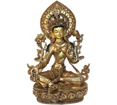 GREEN TARA - Masterpiece Nepali Statue,  Special hand carved in Patan-Nepal - Large Size