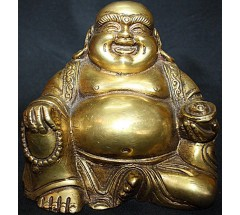 LAUGHING BUDDHA - Statue,  Hand worked in Nepal