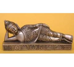 SLEEPING BUDDHA - Statue,  Hand worked in Nepal