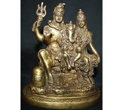 Shiva-Parwati Family Statue from Nepal