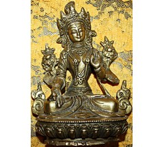 WHITE TARA - Hand worked in Nepal - Small Size