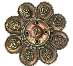 Incence Burner, Bronze, Lotus flower design, (also Candle burner) - Medium Size
