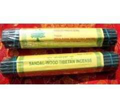 Incense- SANDALWOOD TIBETAN, Pure Himalayan Herbal Handrolled  incense, sticks from Nepal ((Hard box))
