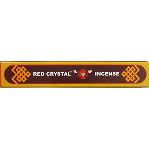RED CRYSTAL, Pure Himalayan Herbal incense, sticks from Nepal - Short Box (15 cm, 5.9 inch)