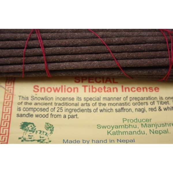 SPECIAL SNOW LINE, Handrolled, Pure Himalayan Herbal  incense, sticks from Nepal - (19 cm, 7.4 inch)