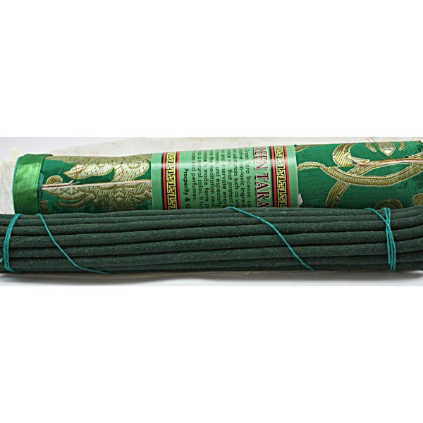 GREEN TARA, Pure Himalayan Herbal incense, sticks from Nepal - Hard box (20.5 cm, 8.07 inch)