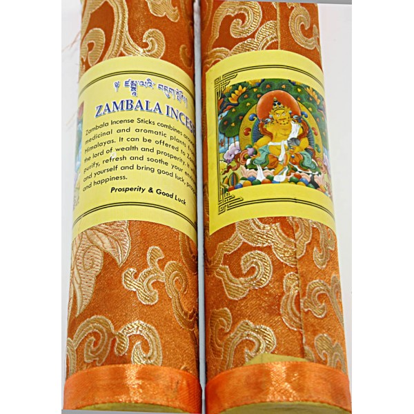 ZAMBALA, Pure Himalayan Herbal incense, sticks from Nepal - Hard box (20.5 cm, 8.07 inch)