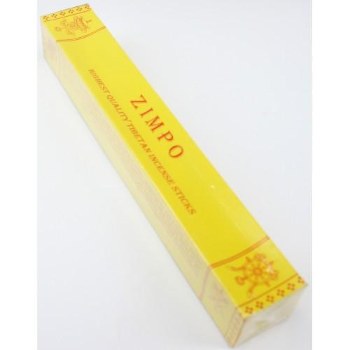 ZIMPO, Handrolled, pure Himalayan herbal incense, sticks from Nepali Himalaya - Hard box (20.5 cm, 8.07 inch)