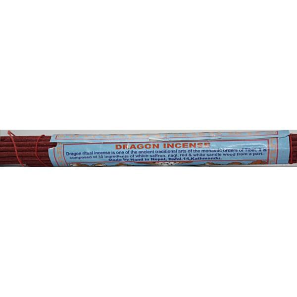 DRAGON, Tibetan, handrolled, incense from Nepali Himalaya - (21 cm, 8.26 inch)