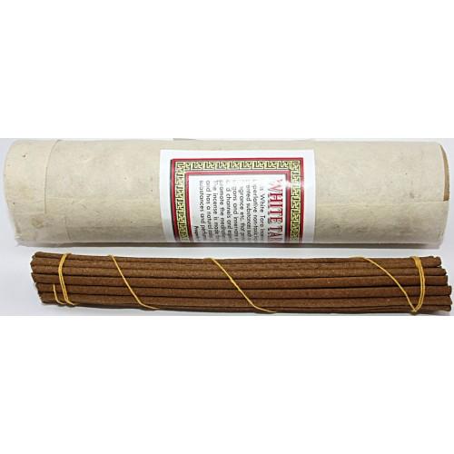 WHITE TARA, Pure Himalayan Herbal incense, sticks from Nepal Hard box - (20.5 cm, 8.07 inch)