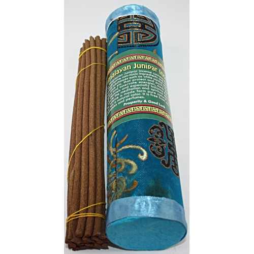 HIMALAYAN JUNIPER, Pure Himalayan Herbal incense, sticks from Nepal Hard box - (20.5 cm, 8.07 inch)