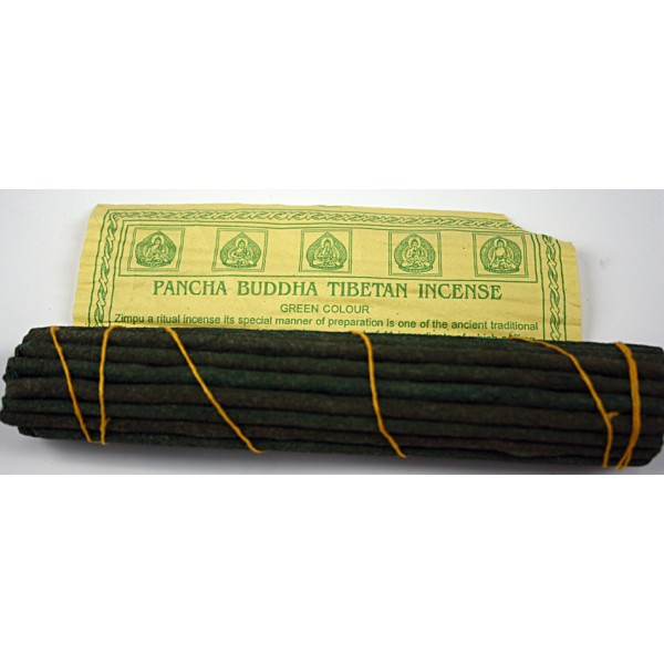 PANCHA BUDDHA, Handrolled, Pure Himalayan Herbal incense, sticks from Nepal - (17 cm, 6.6 inch)