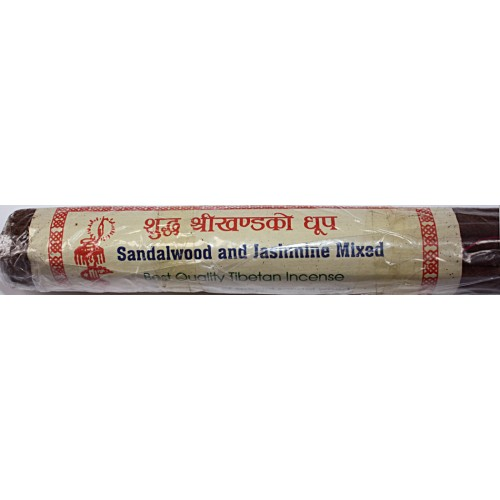 SANDELWOOD AND JASMIN, Handrolled, Pure Himalayan Herbal incense, sticks from Nepal - (17 cm, 6.6 inch)
