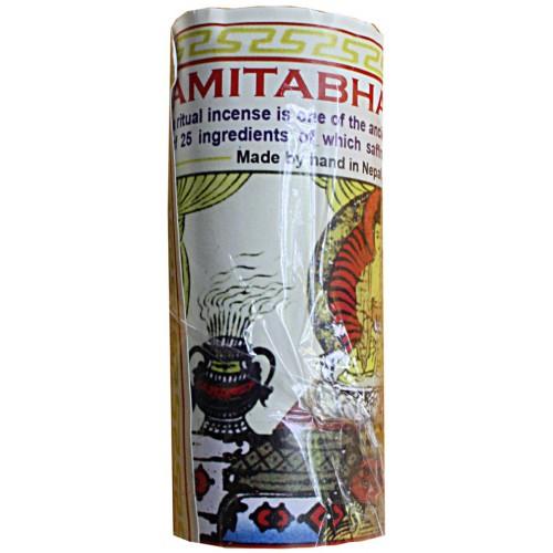 AMITABHAV BUDDHA (ROPE), Pure Himalayan Herbal incense, from Nepal - (10 cm, 3.9 inch)