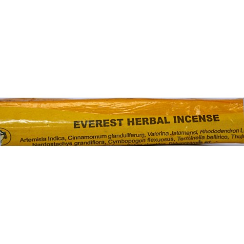 EVEREST HERBAL Handrolled, Pure Himalayan Herbal incense sticks from Nepal - (25 cm, 9.8 inch)