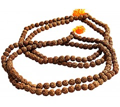 Rudrakshya Mala from Nepal, Small - 4 FACES - 108 Beads, 8-9 mm
