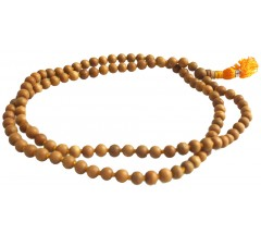 Pure SandalWood Mala, 108 Beads, Knotted, 8 mm