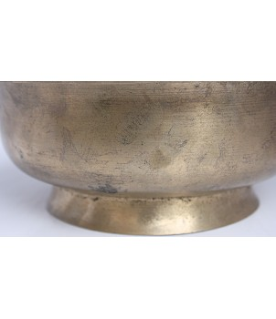 A#(La#) - Musical, Therapeutic, Stand, 2 step stand very speical & unique shaped) Real Antique Singing Bowl - Extra Large Size
