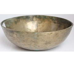 SUN - Planetary, Therapeutic, Manipuri, Real Antique, WITH SPECIAL CIRCLE CARVING Singing Bowl - Extra Small Size
