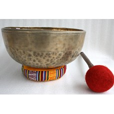 OM - Planetary, Therapeutic, Healing, Tibetan, Handmade, Jambati, Superior Real Antique Singing Bowl - Large Size