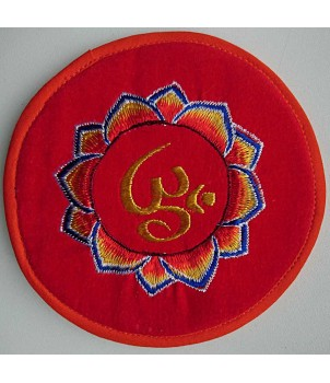 Cushion for Singing bowls, Velvet, Embroidary, MCE Standard - 14 cm-Medium Size