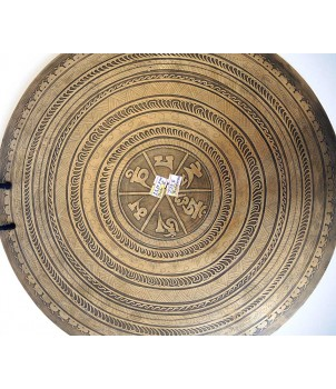 THETA - Healing, Planetary, Therapeutic Fine Carving GONG -  Small Size