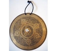 OM - Healing, Planetary, Therapeutic, Fine Carved GONG - Small Size