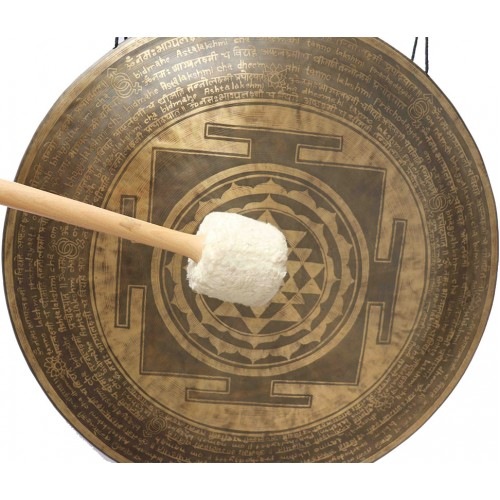 GONG FOR GONG THERAPY BY MCE® Professional Designed - Sri yanta with mantra in English and Sanskriti - Giant Size (70 cm, 27 Inch)