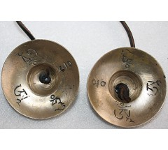 Musical Tingshaw/Cymbal note D# (Re#) Mantra Carved, Medium Size