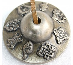 Tibetan Tingshaw/Cymbal - 8 Auspicious signs - Large size