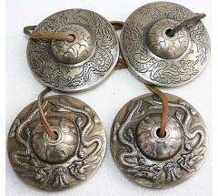 Tibetan Tingshaw/Cymbal- Double Dragon - Large size