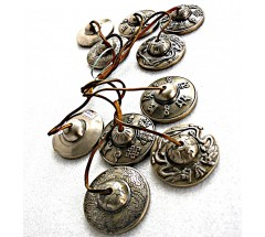 Tibetan Tingshaw/Cymbal - Wheel/Double Tridents - Medium size