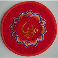 Cushion embroidery for singing bowl